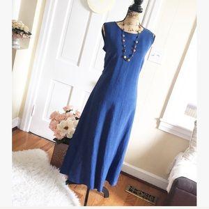 Dresses & Skirts - HELLO SUMMER • 100% Linen Tie Back Maxi Midi Dress